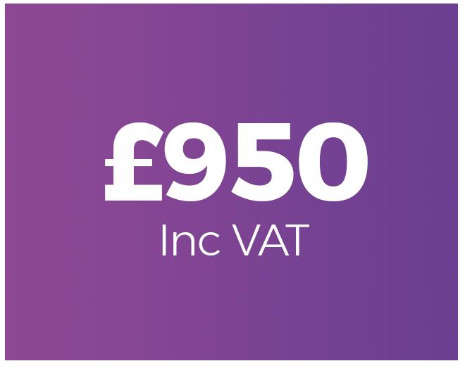 £950 inc VAT